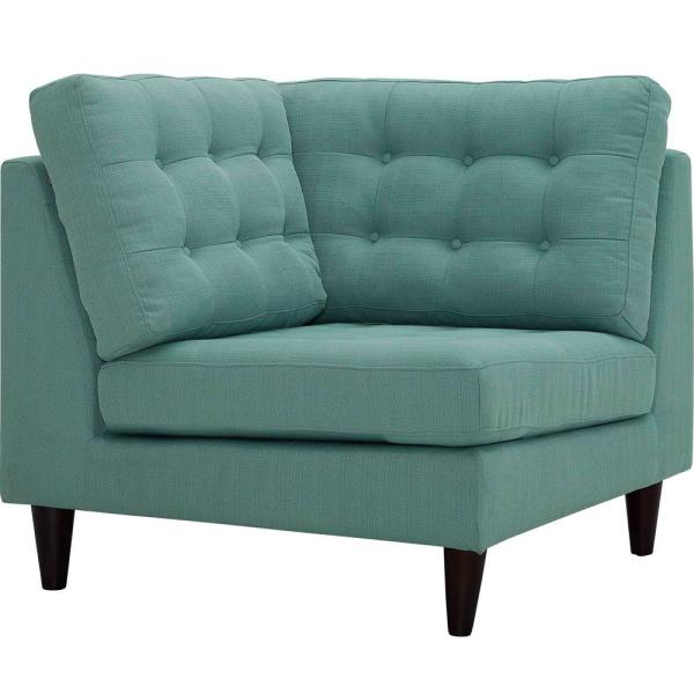 MODWAY Empress Laguna Upholstered Fabric Corner Sofa EEI-2610-LAG ...