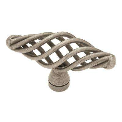 Birdcage 2-1/2 in. (64mm) Antique Pewter Cabinet Knob