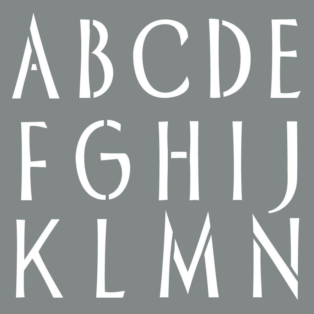 sleek alphabet stencil