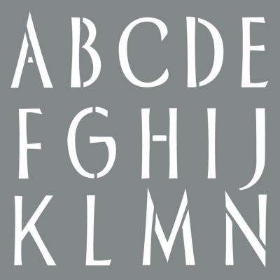 Americana Decor 6 in. x 6 in. Sleek Alphabet Stencil
