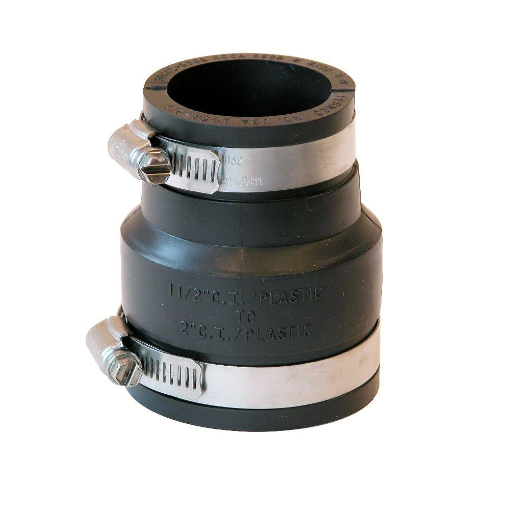 Fernco 2 in. x 1-1/2 in. DWV Flexible PVC Coupling