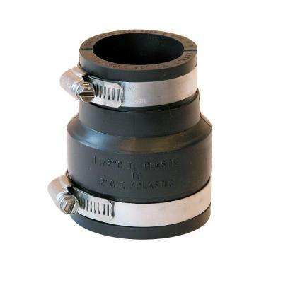 2 in. x 1-1/2 in. DWV Flexible PVC Coupling