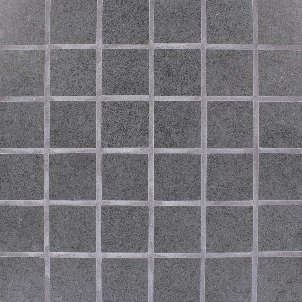 Beton Graphite 12 in. x 12 in. x 10mm Matte Porcelain Mesh-Mounted Mosaic Tile (8 sq. ft. / case)