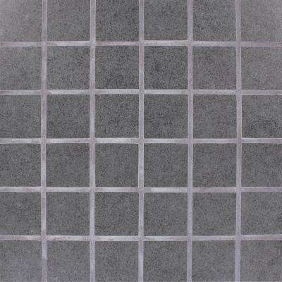 Beton Graphite 12 in. x 12 in. x 10 mm Porcelain Mesh-Mounted Mosaic Tile (8 sq. ft. / case)