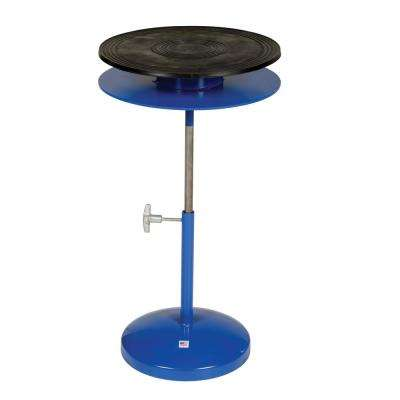 300 lbs. 18 in. H Adjusts 24 in. to 35 in. Heavy-Duty Manual Turntable