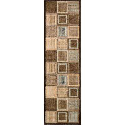 Marvelous Brown 2 ft. x 8 ft. Indoor Runner Rug