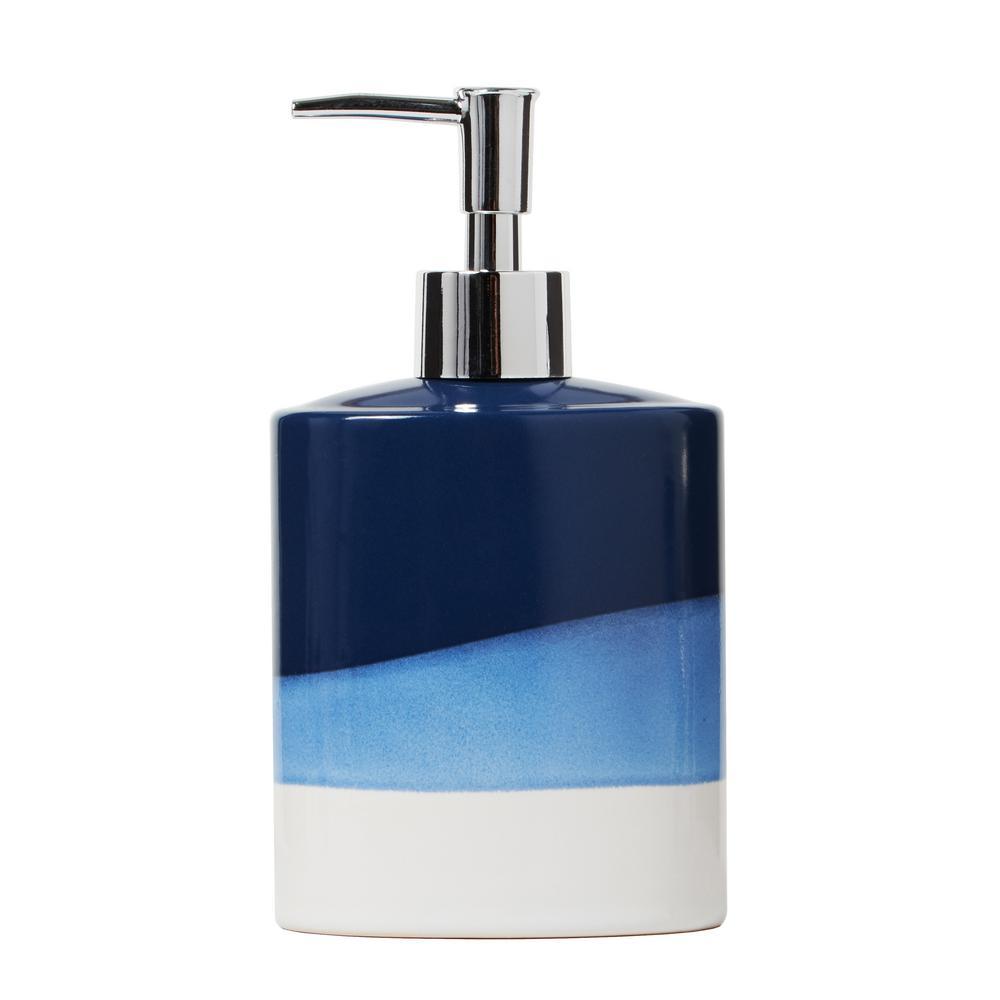 Alanya Free Standing Blue Lotion Dispenser