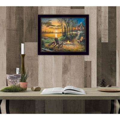 "11 in. x 14 in. ""Fireside"" by Jim Hansen, Printed Framed Wall Art"