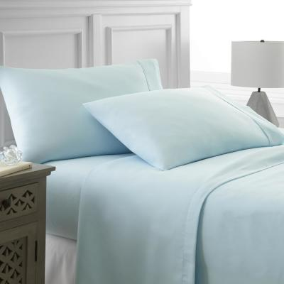 Performance Aqua Twin XL 4-Piece Bed Sheet Set