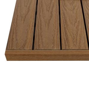 Newtechwood 1 In X Ft Peruvian Teak Quick Deck Composite Tile Straight End Fascia 4 Piece Box Us Qd St Zx Tk The Home Depot