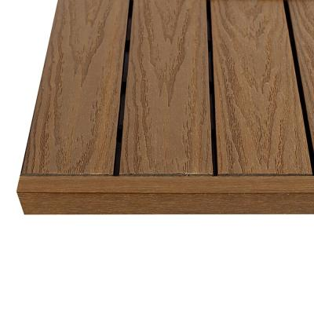1/12 ft. x 1 ft. Quick Deck Composite Deck Tile Straight Fascia in Peruvian Teak (4-Pieces/Box)