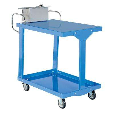 24 in. x 36 in. Easy Access Steel Stock Truck with Table