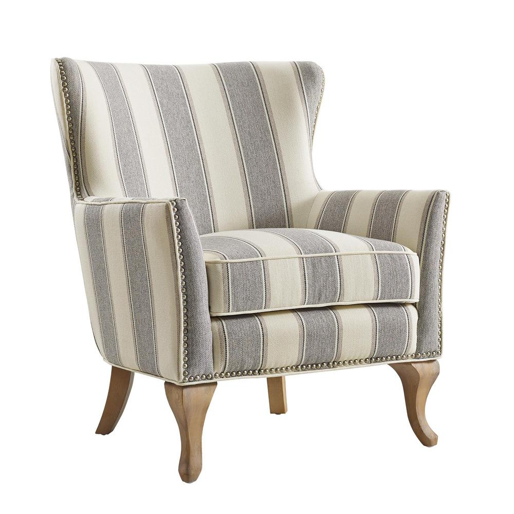 Dorel Living Dotty Gray Upholstered Accent Chair Fh7903 Gr
