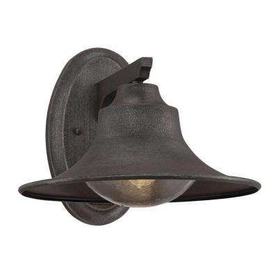 Carol 1-Light Artisan Rust Outdoor Wall Mount Lantern