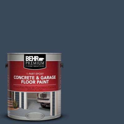 1 gal. #M500-7 Very Navy 1-Part Epoxy Concrete and Garage Floor Paint
