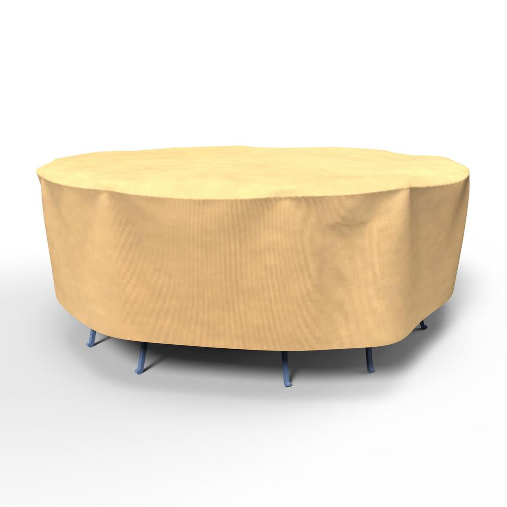 Budge All Seasons Medium Round Patio Table And Chairs Combo Covers