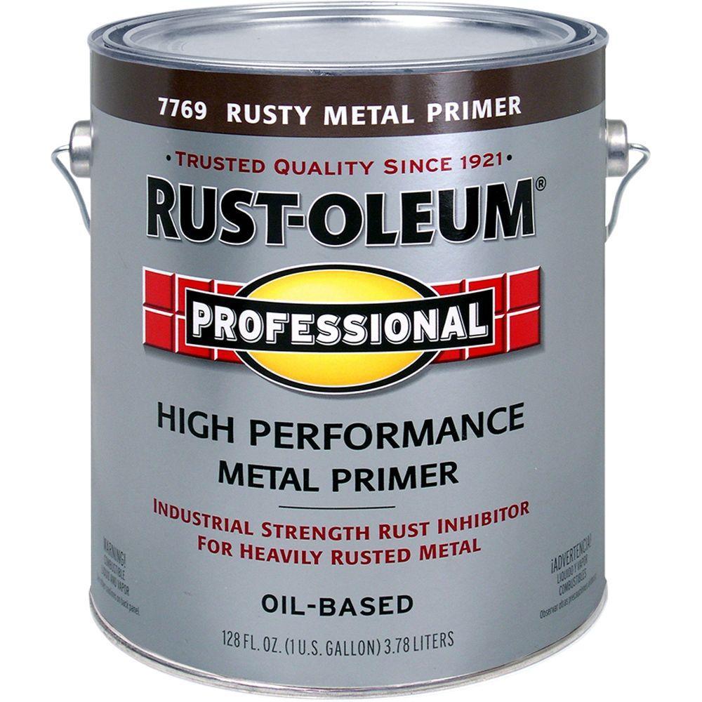 Rust-Oleum Professional 1-Gal. Flat Rusty High-Performance Metal Primer-DISCONTINUED
