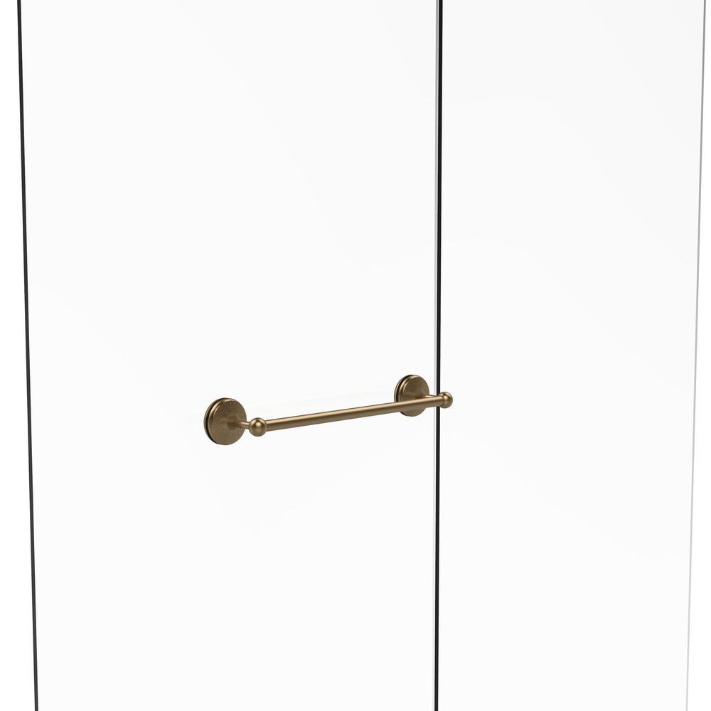 Allied Brass Monte Carlo Collection 18 in. Shower Door Towel Bar in Brushed Bronze