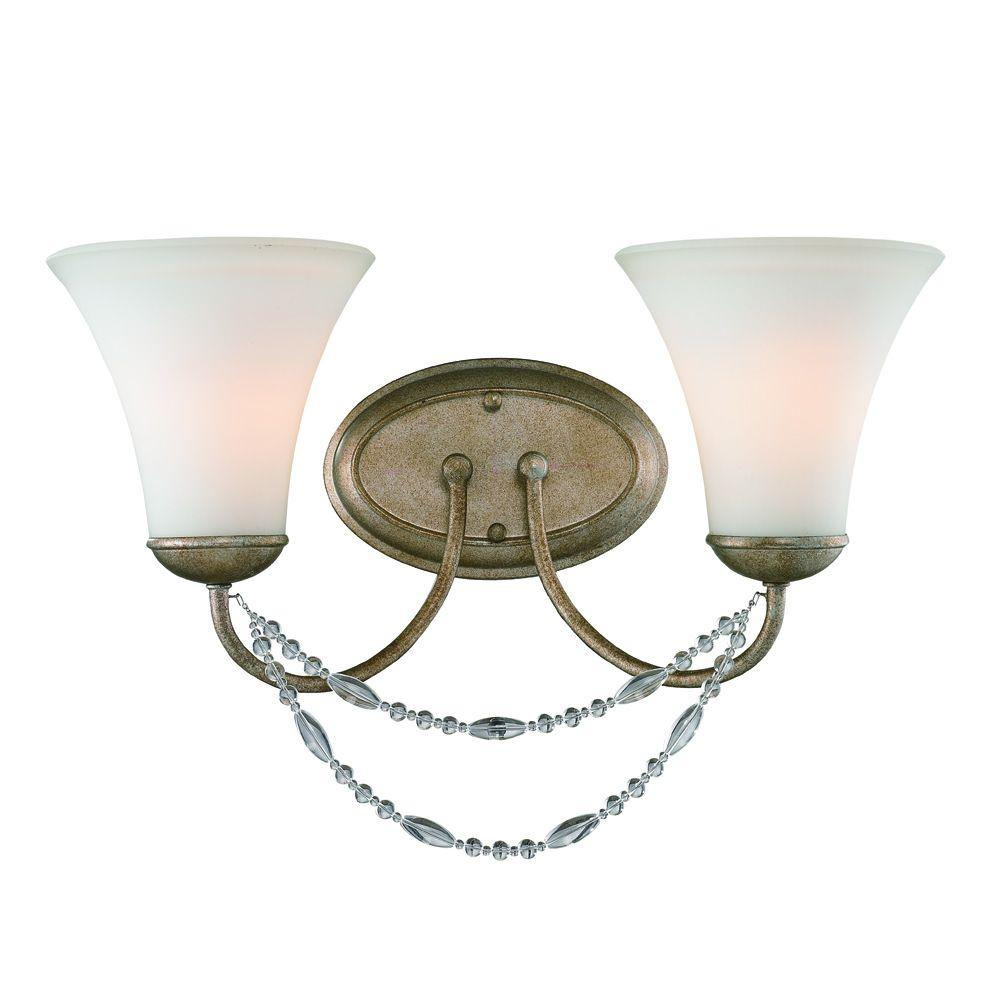 null Tatiana Collection 2-Light Golden Aura Bath Vanity Light