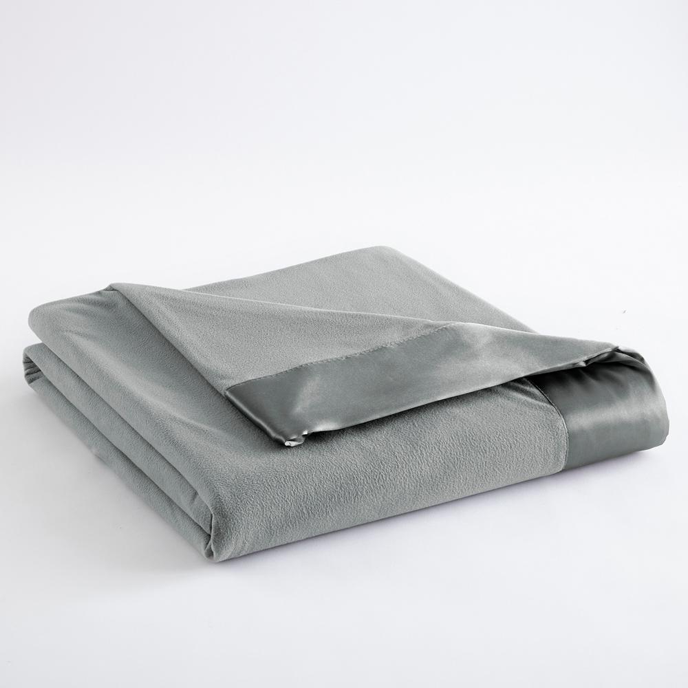 Micro Flannel All Seasons Lightweight Greystone Solid King Flat Sheet