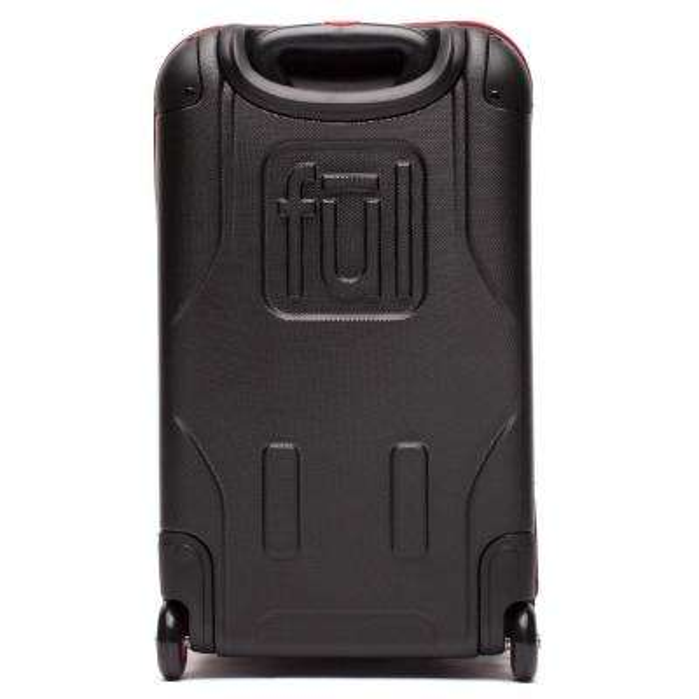 Flx 28 in. Black Hybrid Rolling Duffel Bag Retractable Pull Handle Split Level Storage