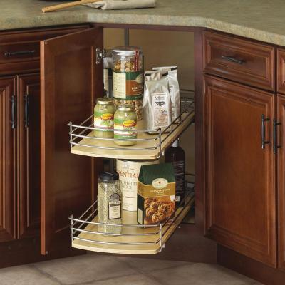 30 in. x 28 in. x 28 in. Full Round Lazy Susan Drawer System