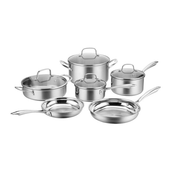 Cuisinart Multiclad Triply 10-Piece Stainless Steel Cookware Set PTP-10