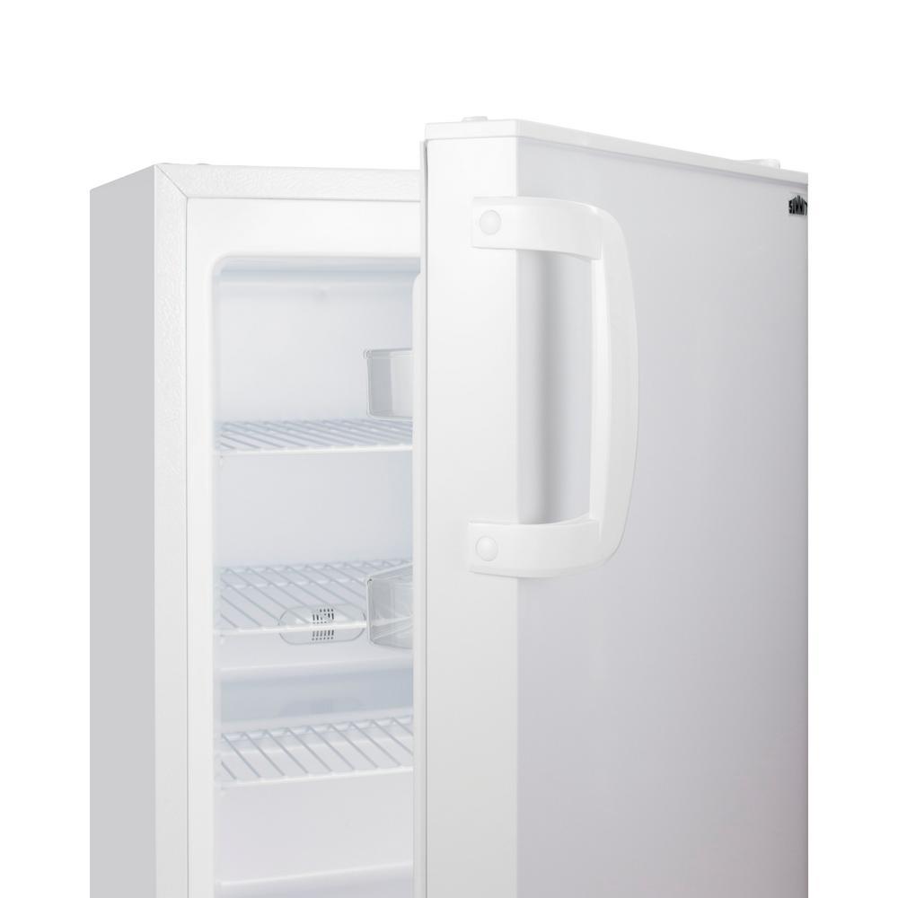 2.8 cu. ft. Manual Defrost Upright Freezer in White, ADA Compliant