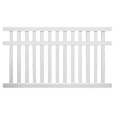 Captiva 5 ft. H x 8 ft. W White Vinyl Pool Fence Panel