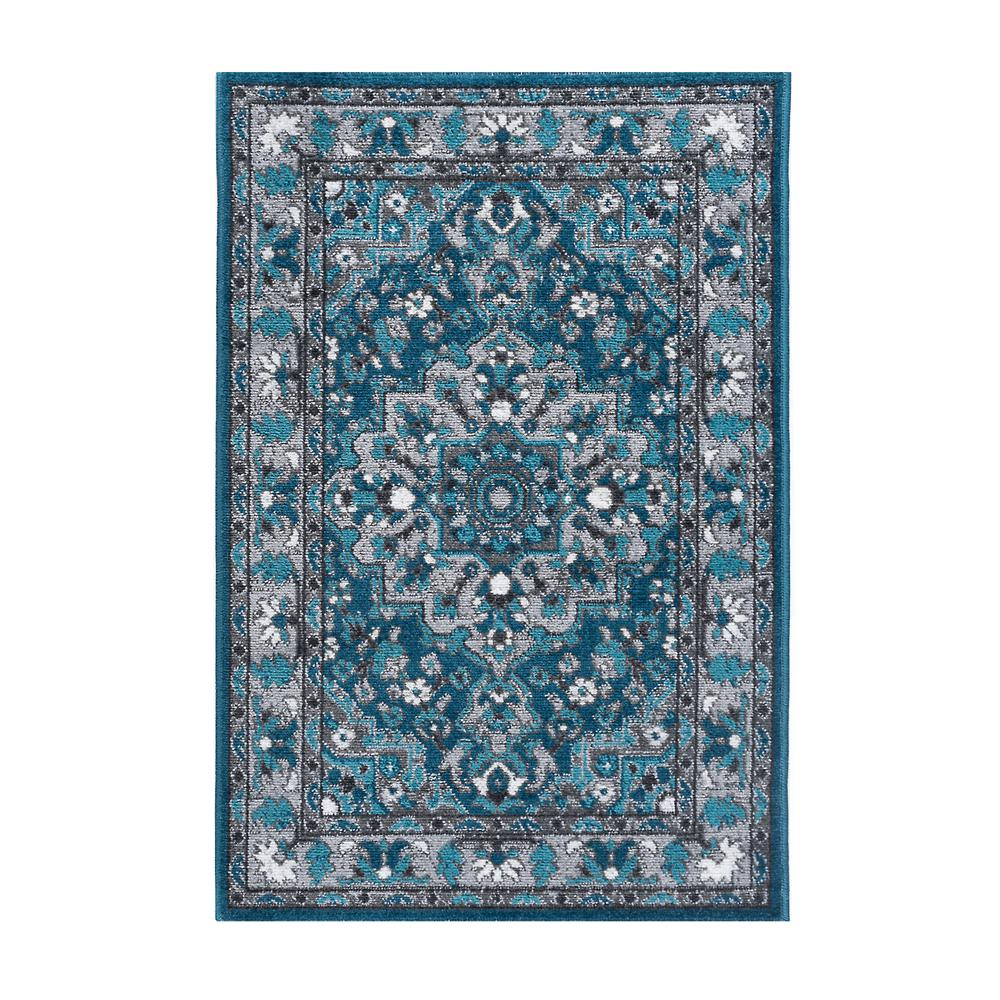 Amazing Tayse Rugs Milan Blue 2 Ft X 3 Ft Area Rug Complete Home Design Collection Barbaintelli Responsecom