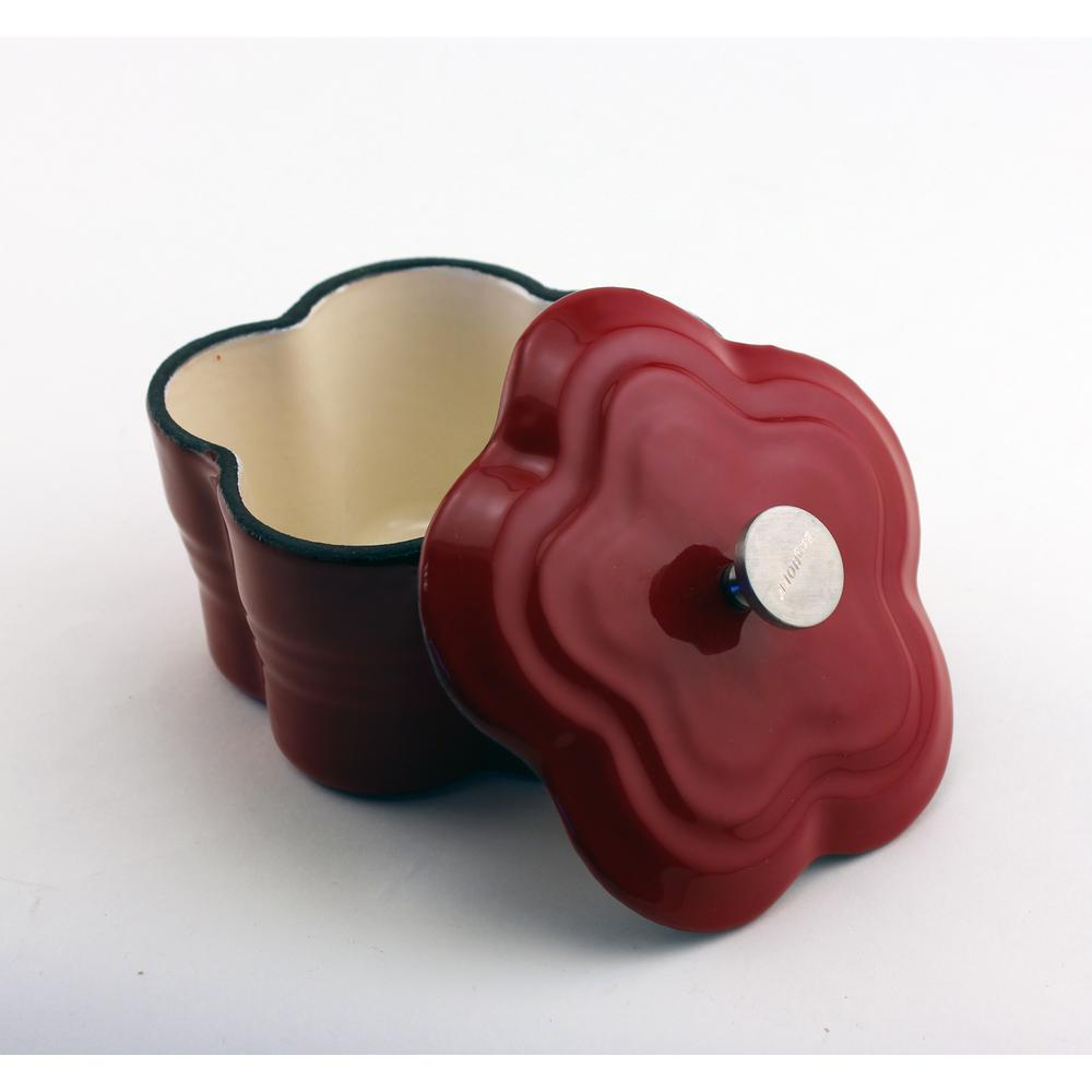 Cast Iron Red Casserole Dish with Lid