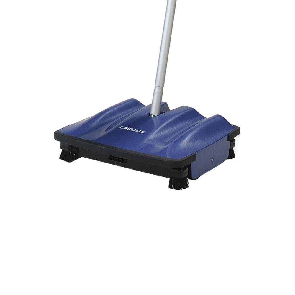 Carlisle 9.5 in. Mechanical Multi Floor Surface Sweeper with 42 in. Handle (4-Pack), Blues