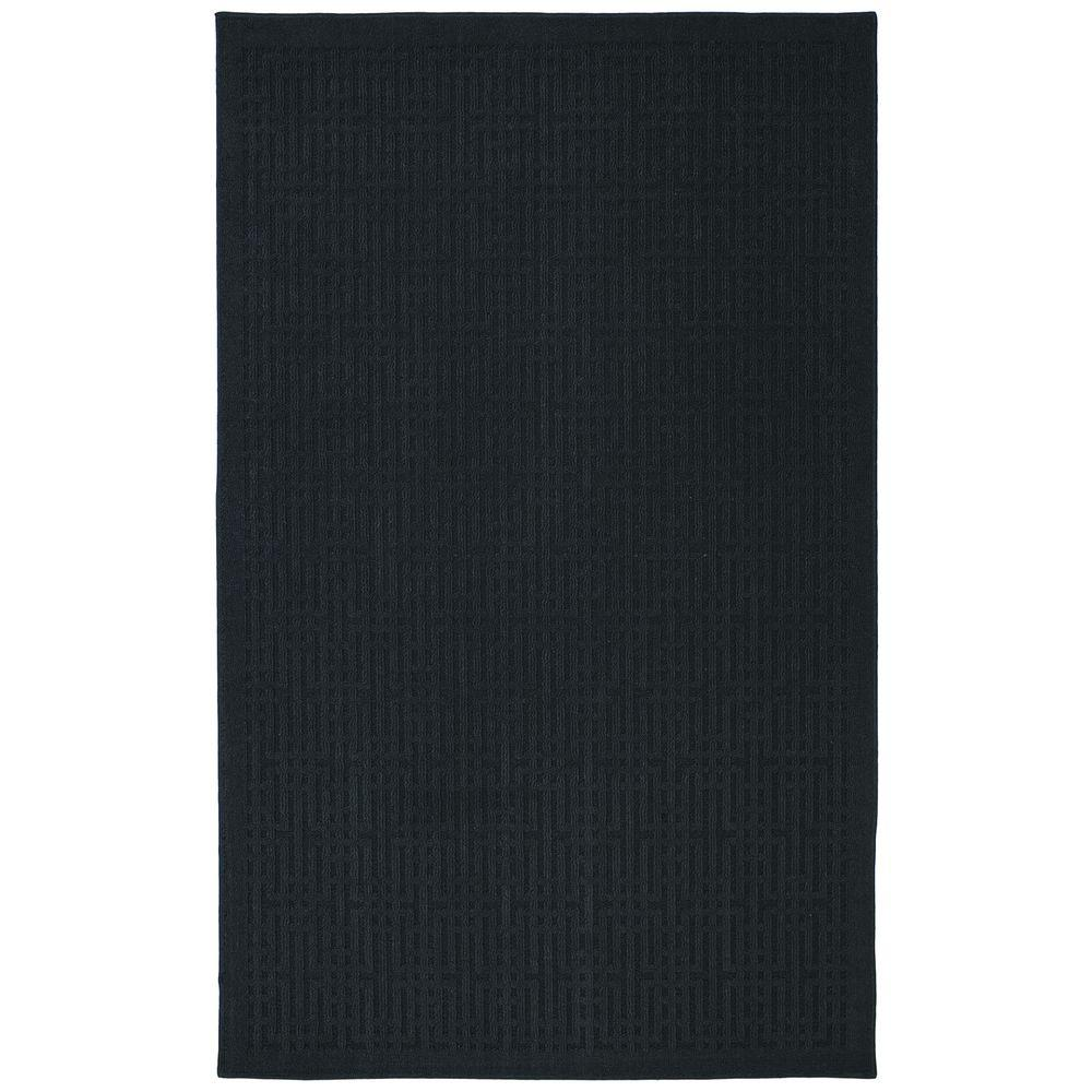 null Quincy Keywork Coal 5 ft. x 7 ft. Area Rug