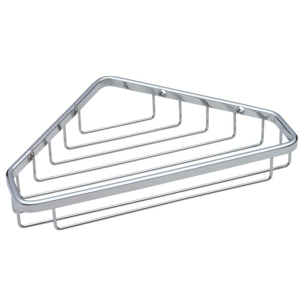 franklin brass large wire corner shower caddy in bright stainless-b9791