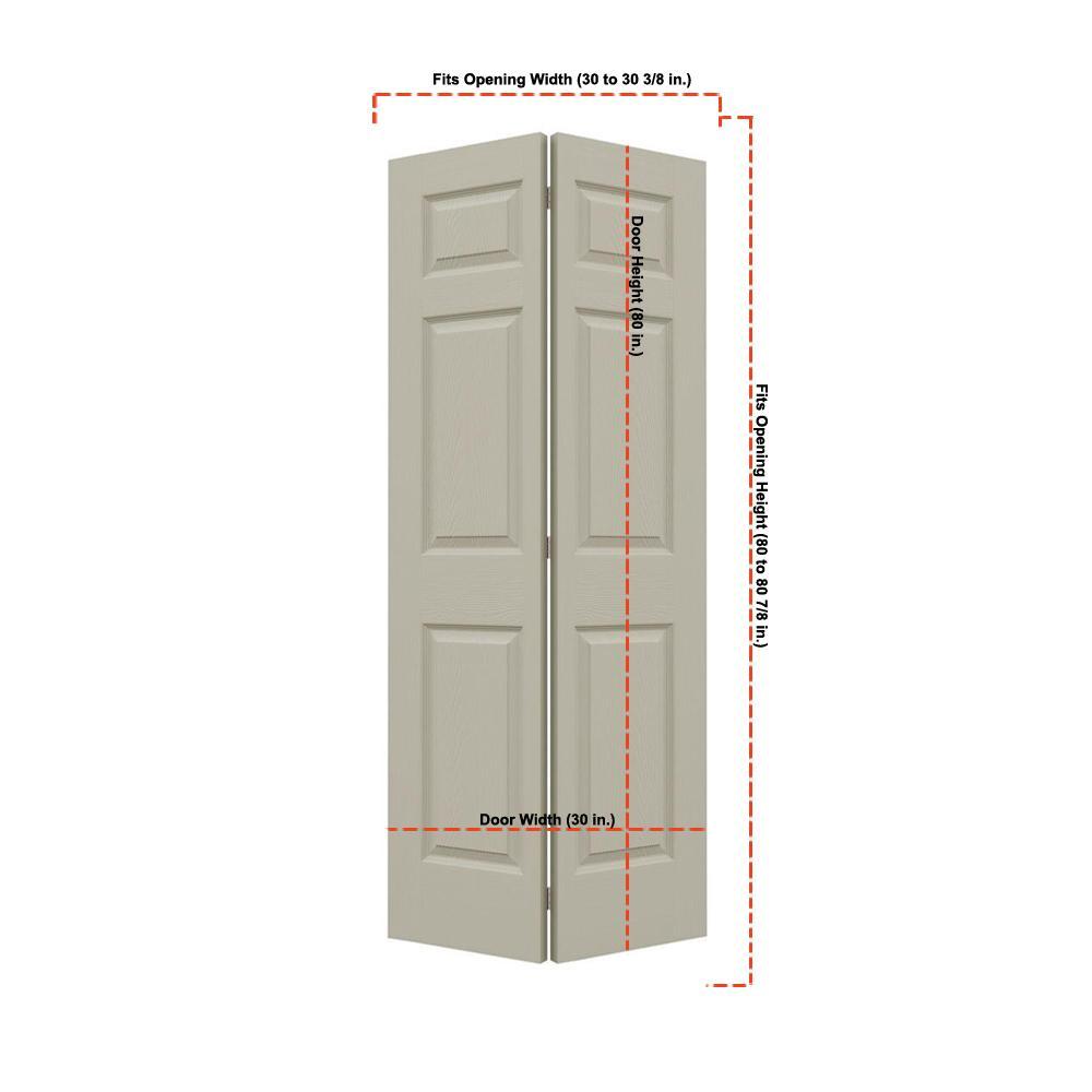 Jeld Wen 30 In X 80 In Woodgrain 2 Panel Full Louver: TRUporte 30 In. X 80 In. 3100 Series 3-Lite Tempered