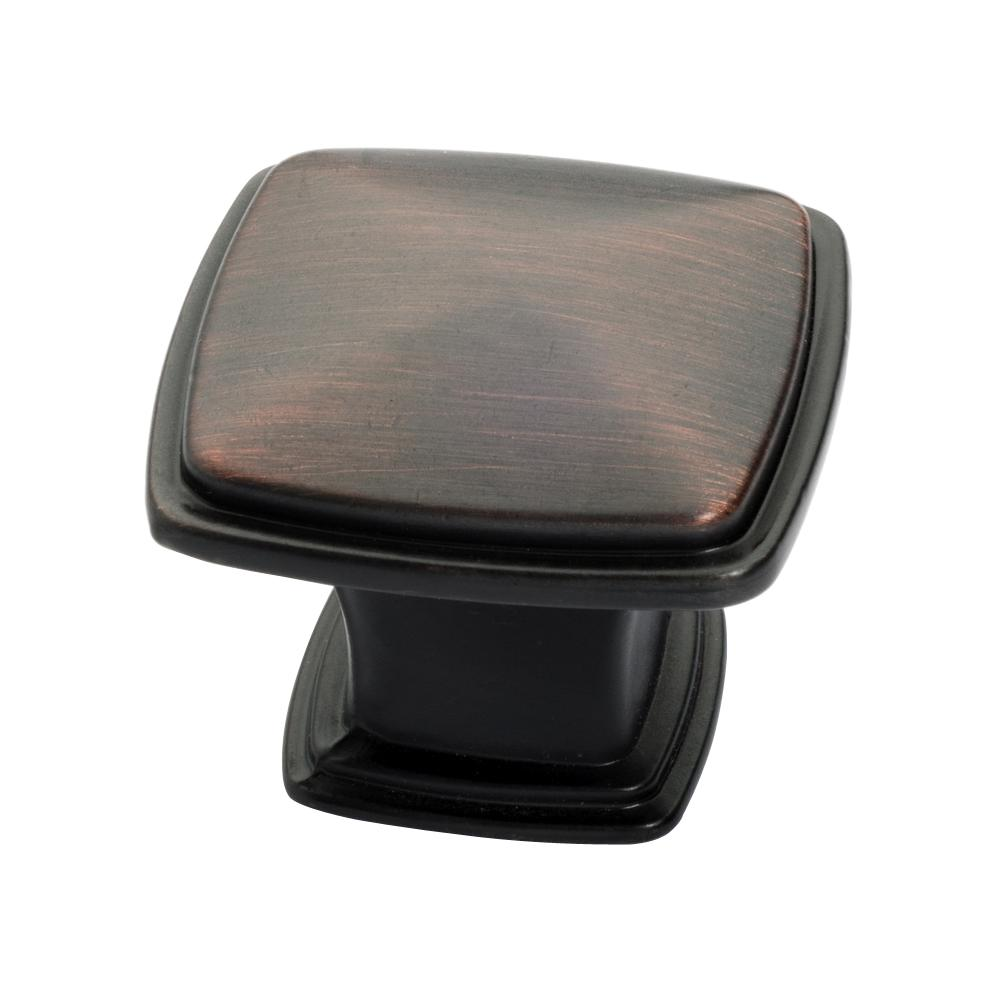 Oil Rubbed Bronze Square Cabinet Knob (25
