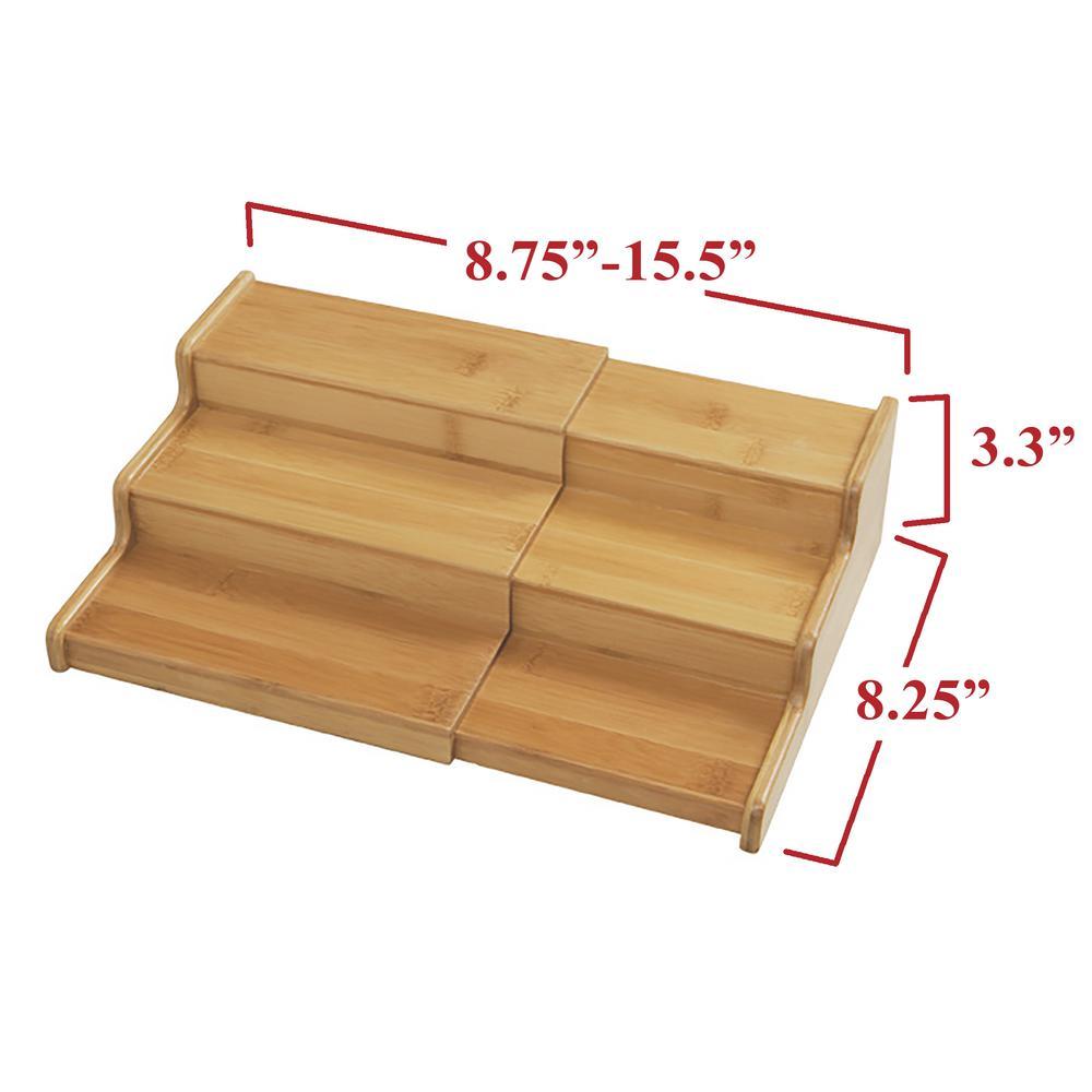 Expandable 3 Tier E Rack Step Shelf