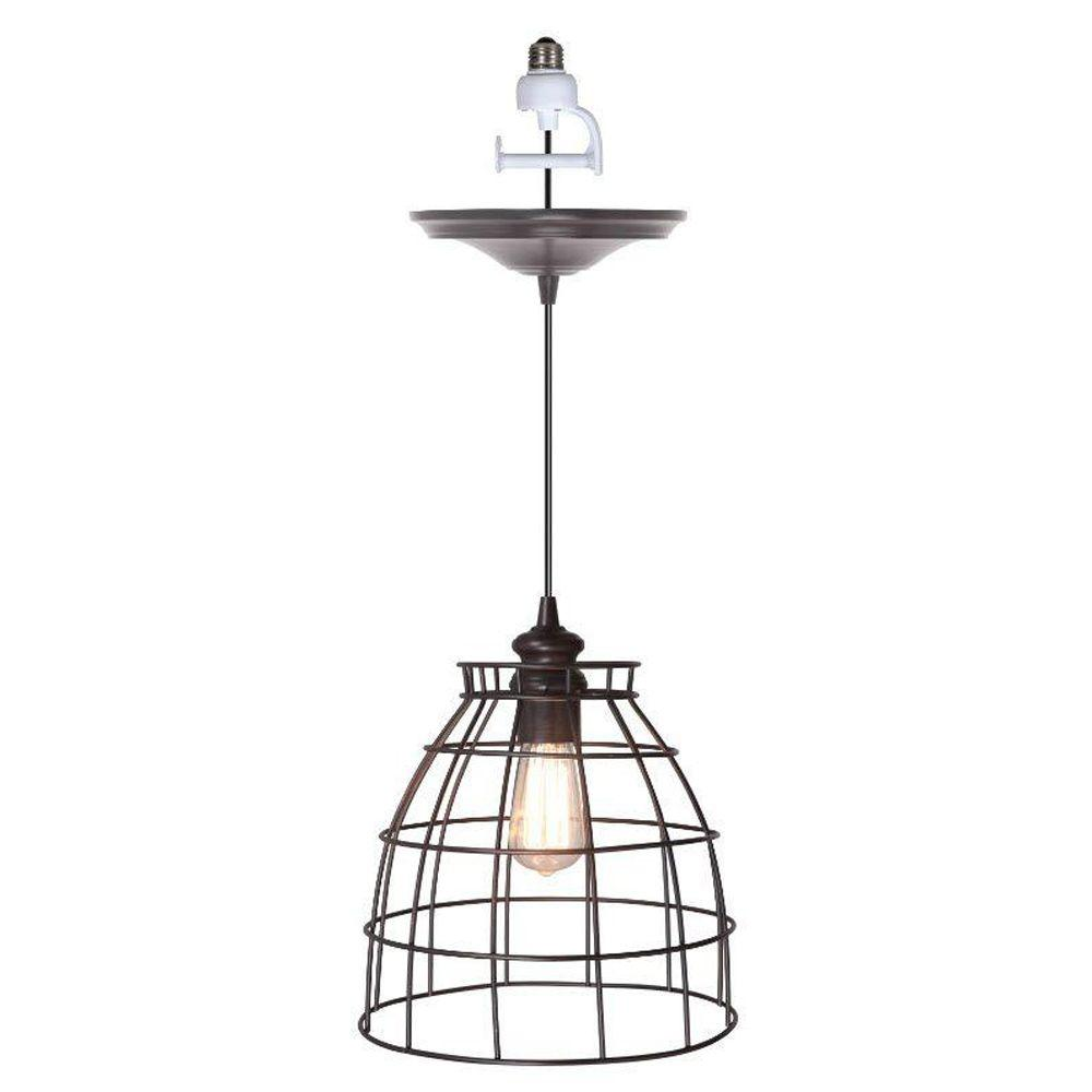 Outdoor Lights Hanging Kit: Home Decorators Collection Dovecote 1-Light Bronze Pendant