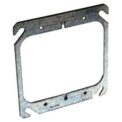 4 in. Square Flat 2-Device Mud Ring