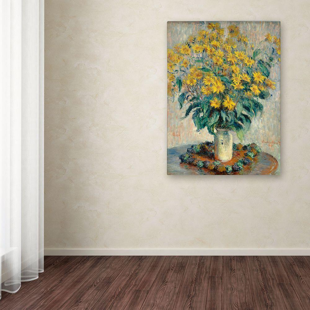 """24 in. x 32 in. """"Jerusalem Artichoke Flowers"""" Canvas Art"""