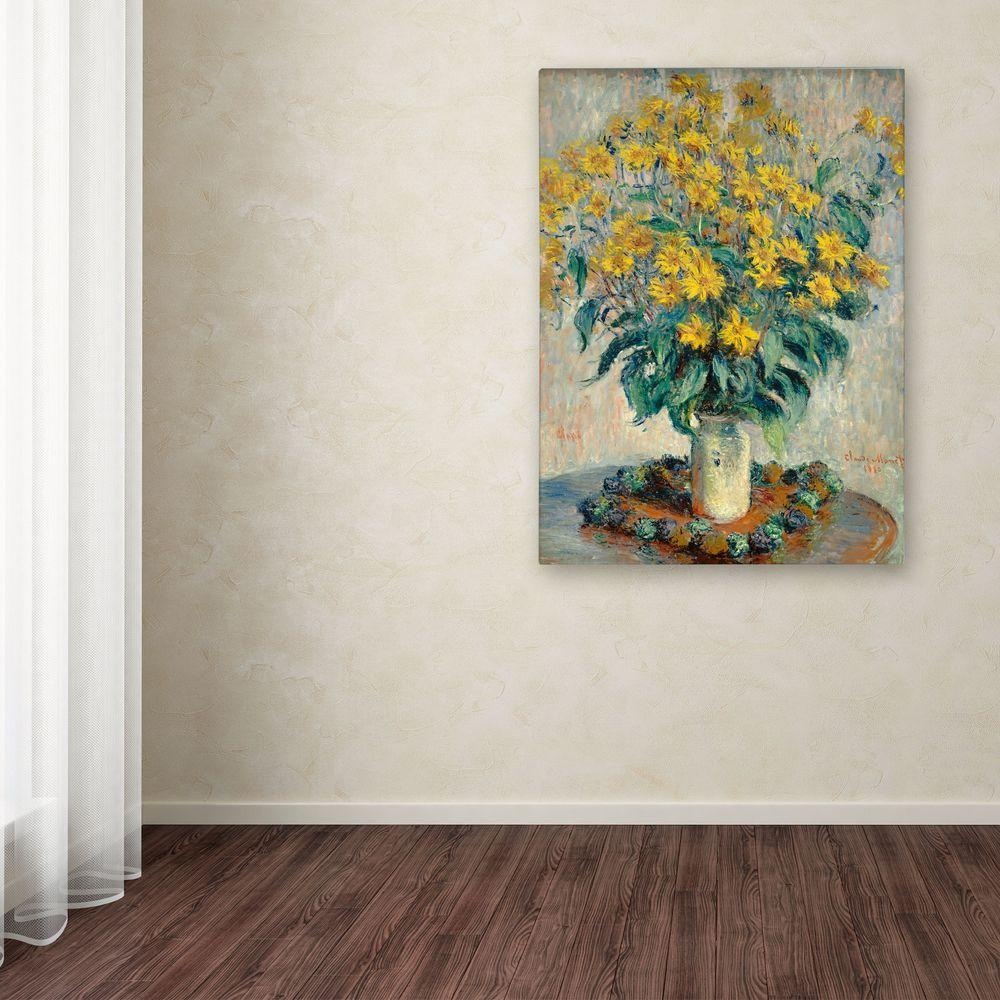 "35 in. x 47 in. ""Jerusalem Artichoke Flowers"" Canvas Art"