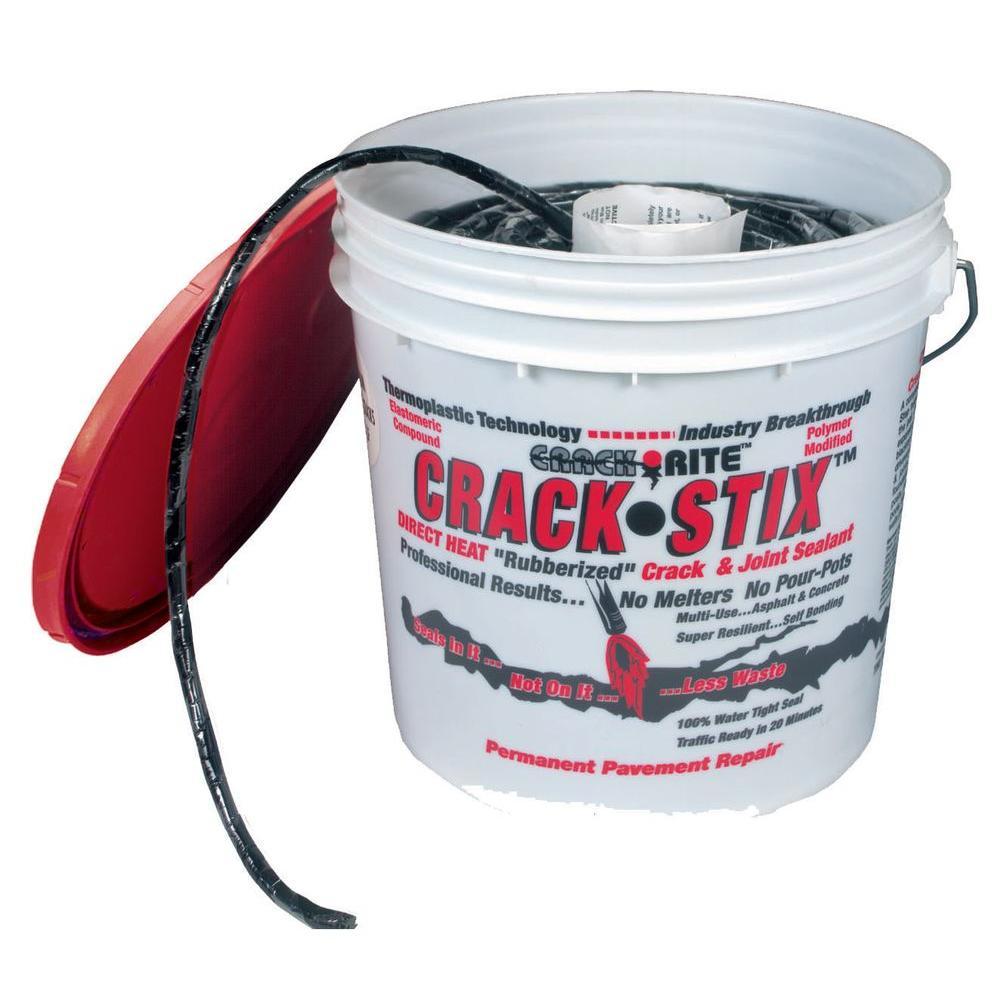 2 Gal. 250 ft. Small Black Permanent Blacktop Crack Filler