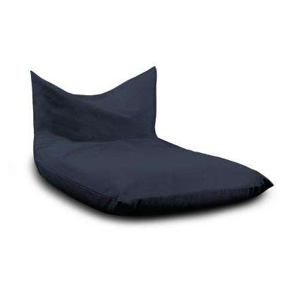 Finster Indigo Armless Bean Bag Removable Cover Chaise Outdoor Lounge Chair with Sling Sunbrella