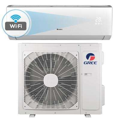LIVO 22,000 BTU 2 Ton Wi-Fi Programmable Ductless Mini Split Air Conditioner with Inverter, Heat, Remote 208-230V/60Hz