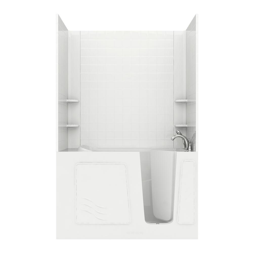 Universal Tubs Rampart 5 Ft Walk In Whirlpool Bathtub With 4 In