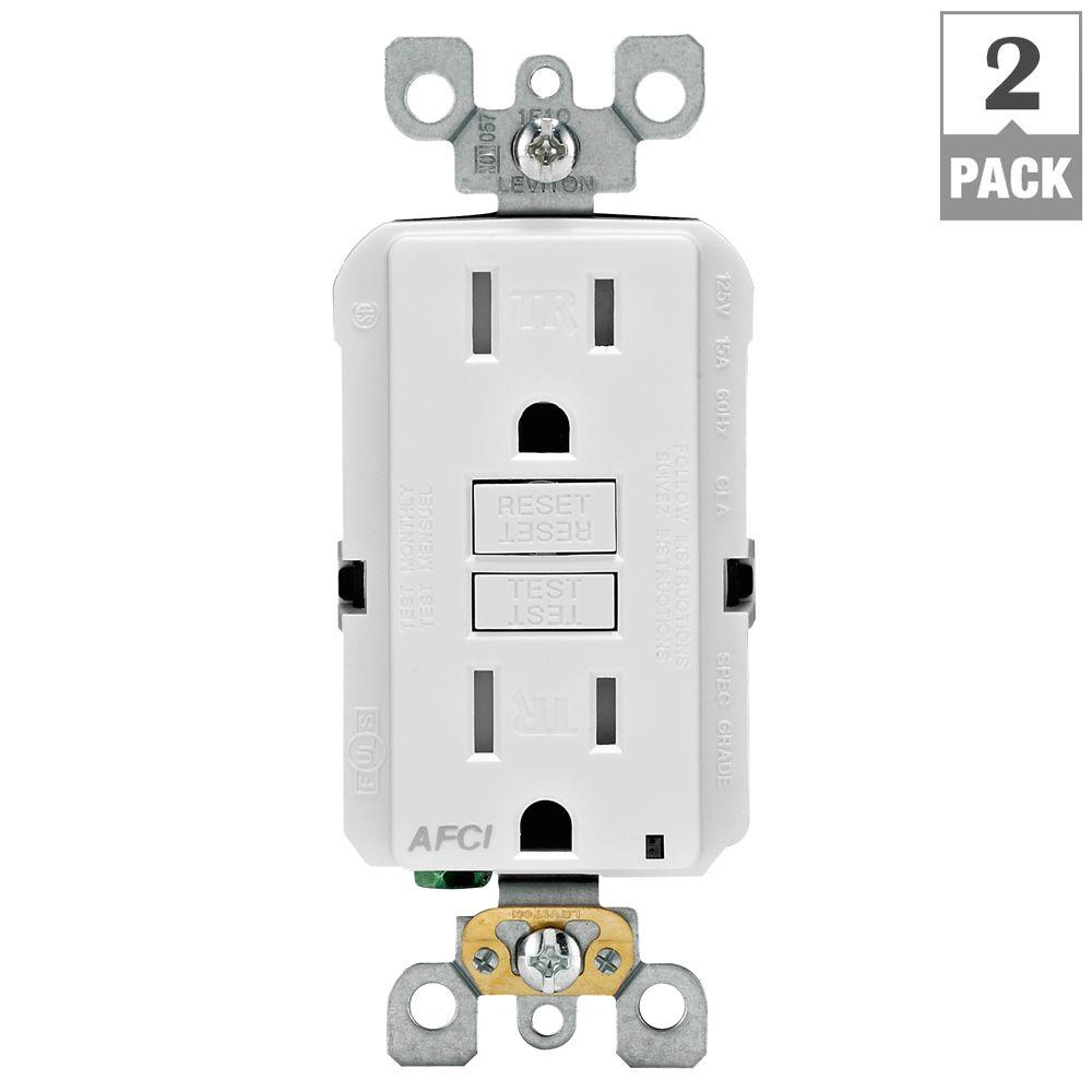 Commercial Electric 15 Amp Switched Outlet, White-LN-5 - The Home Depot