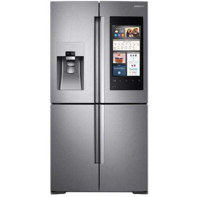 22 cu. ft. Family Hub 4-Door Flex French Door Smart  Refrigerator in Stainless Steel, Counter Depth