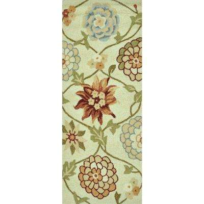 Summerton Lifestyle Collection Ivory/Floral 2 ft. x 5 ft. Rug Runner