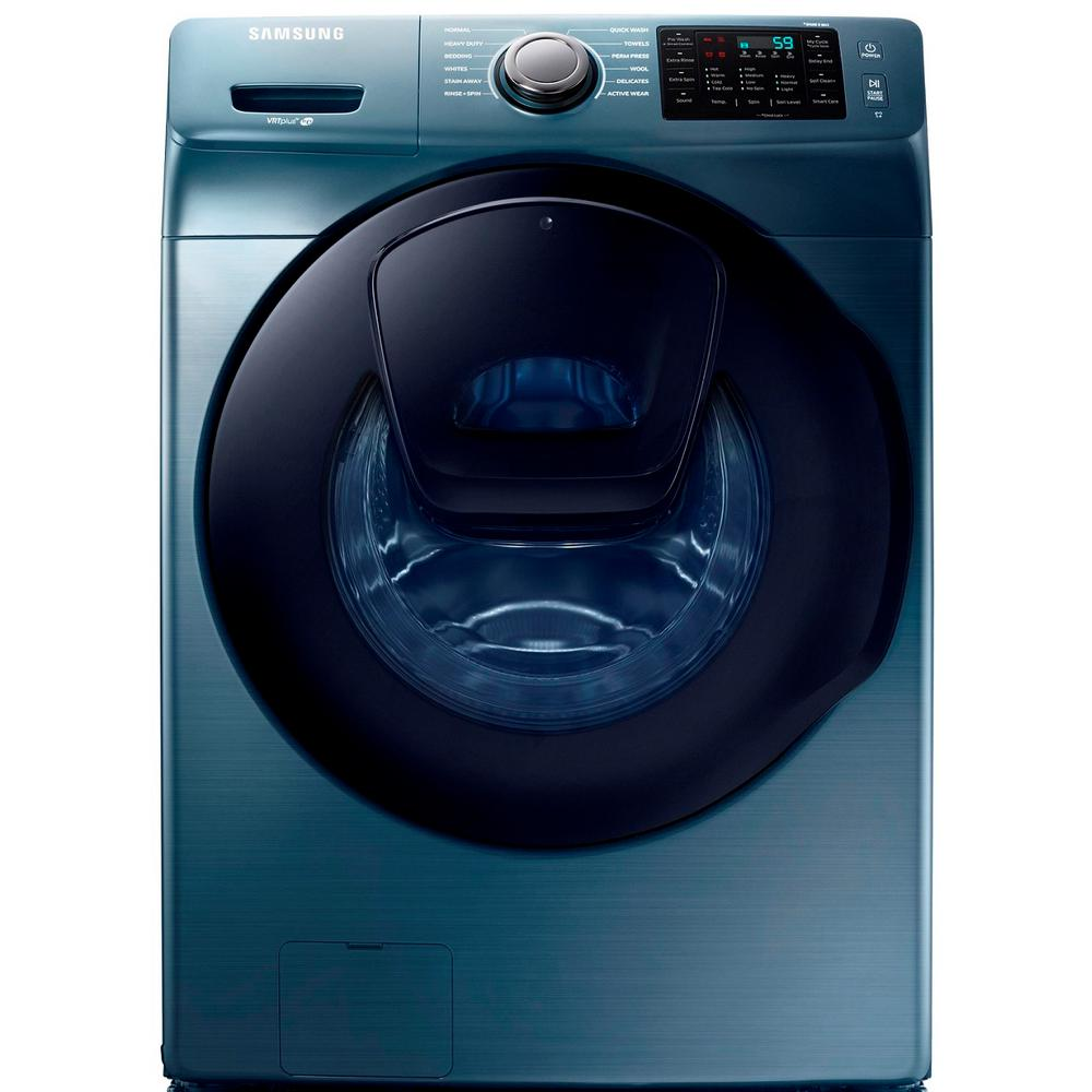 Samsung 4.5 cu. ft. High Efficiency Front Load Washer with AddWash Door in Azure Blue, ENERGY STAR
