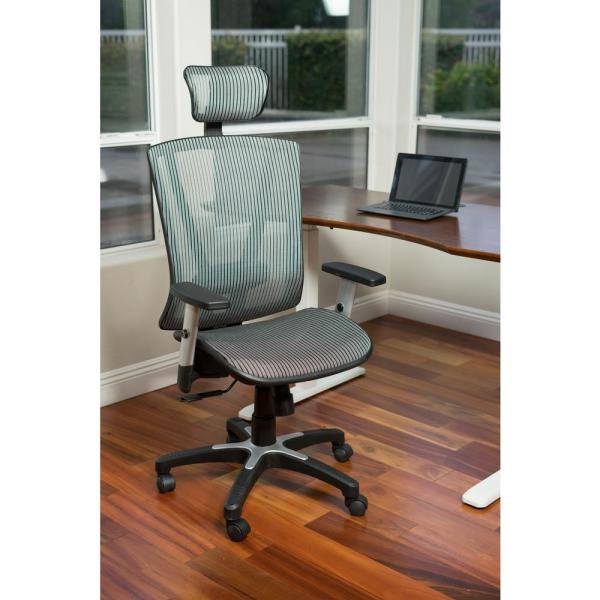 Canary Fully Meshed Ergo Grey Office Chair with Headrest MSH112GR